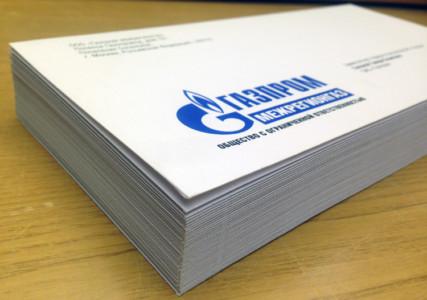 Тираж напечатанных конвертов