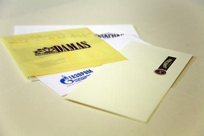Конверт из кальки с логотипом