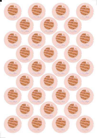 Круглые наклейки для конфет