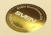 Тиснение золотом на сертификате
